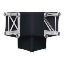 LEDJ Black 3 Way 90 Degree Corner Quad Truss Sleeve/Sock